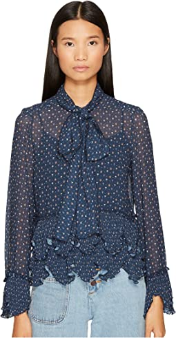 See by Chloe - Georgette Blouse with Neck Tie