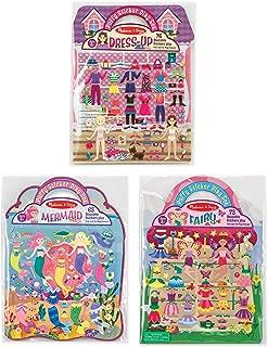 Melissa & Doug Puffy Sticker Set Bundle - Fairy, Dress-Up and Mermaid