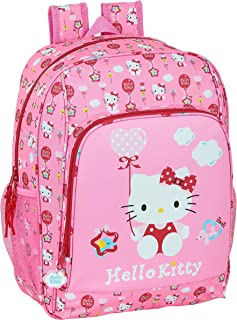 Mochila Escolar Adaptable a Carro de Hello Kitty Balloon, 310x140x410 mm