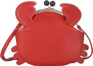 QZUnique Women's PU Crab Shape Handbag Cute Satchel Cross Body Shoulder Bag