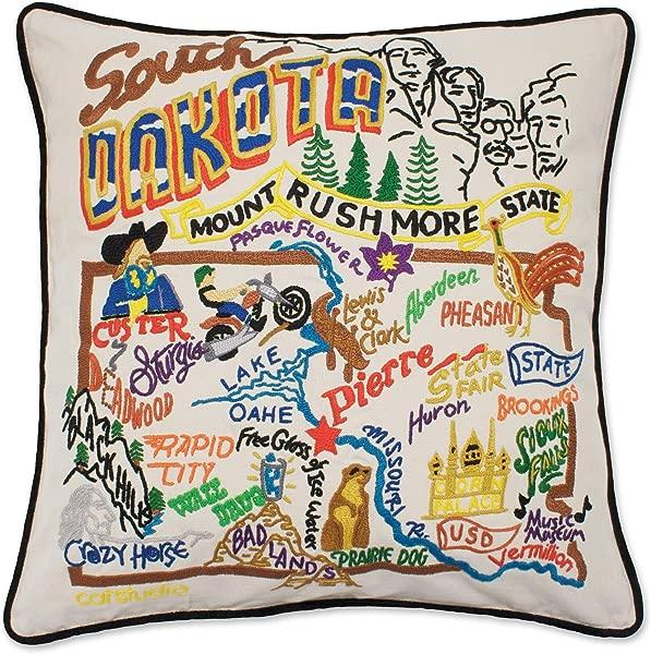 南达科他州 Catstudio 抱枕手工刺绣月个月