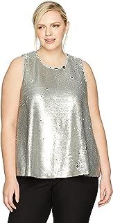 RACHEL Rachel Roy Women's Plus Size Sequin Top