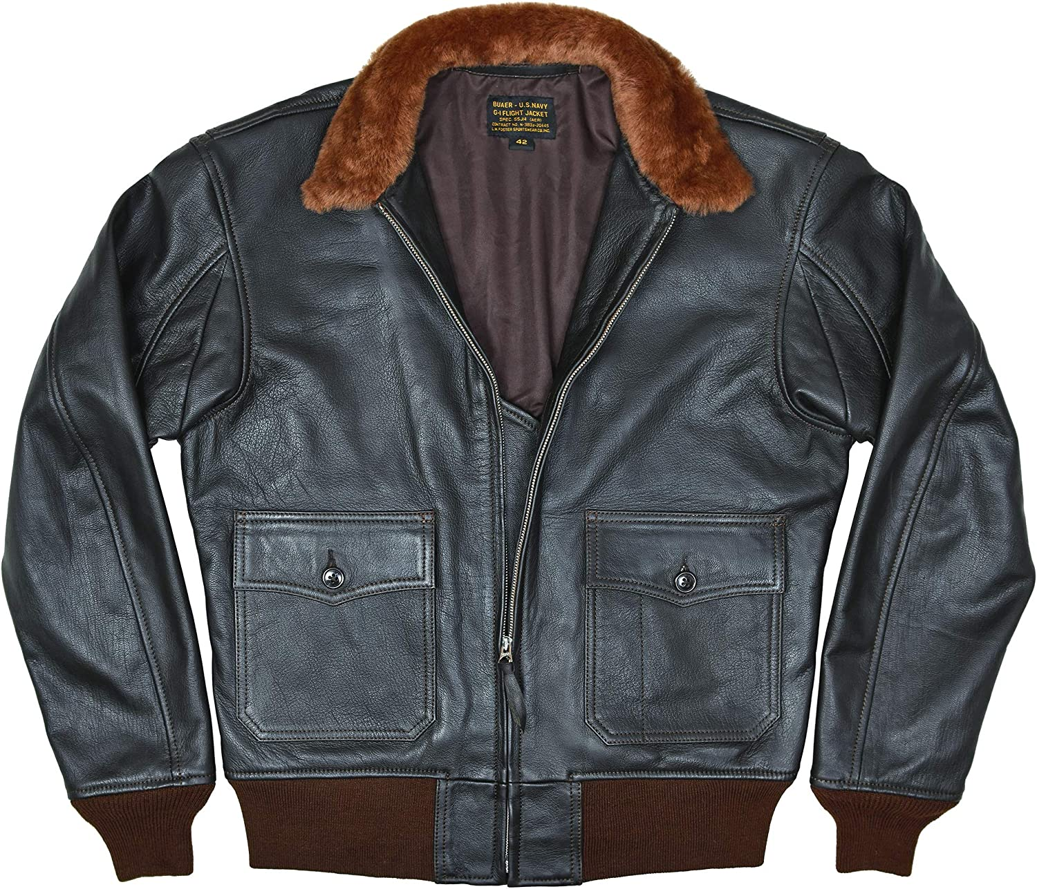 Cash special Max 87% OFF price FIVESTAR LEATHER Men's G-1 Buaer 55j14 Le US Naval Military Spec
