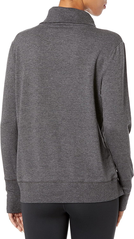 Amazon Essentials Women's Studio Terry Long-Sleeve Funnel-Neck Sweatshirt