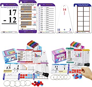 Addition & Subtraction Flash Cards. This 2 pack includes 520 laminated cards to learn how to Add & Subtract Numbers. For K...