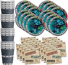 Secret Agent Top Secret Spy Birthday Party Supplies Set Plates Napkins Cups Tableware Kit for 16