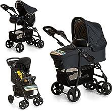 Hauck Shopper SLX Trio Set 3 in 1 Kinderwagen bis 25 kg  Babyschale  Babywanne mit Matratze ab Geburt, Buggy mit Liegefunktion, Getränkehalter, leicht, klein faltbar, pooh tidy time