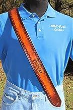 Handmade Leather Personalized Engraved-Guitar Strap- Sunburst Design