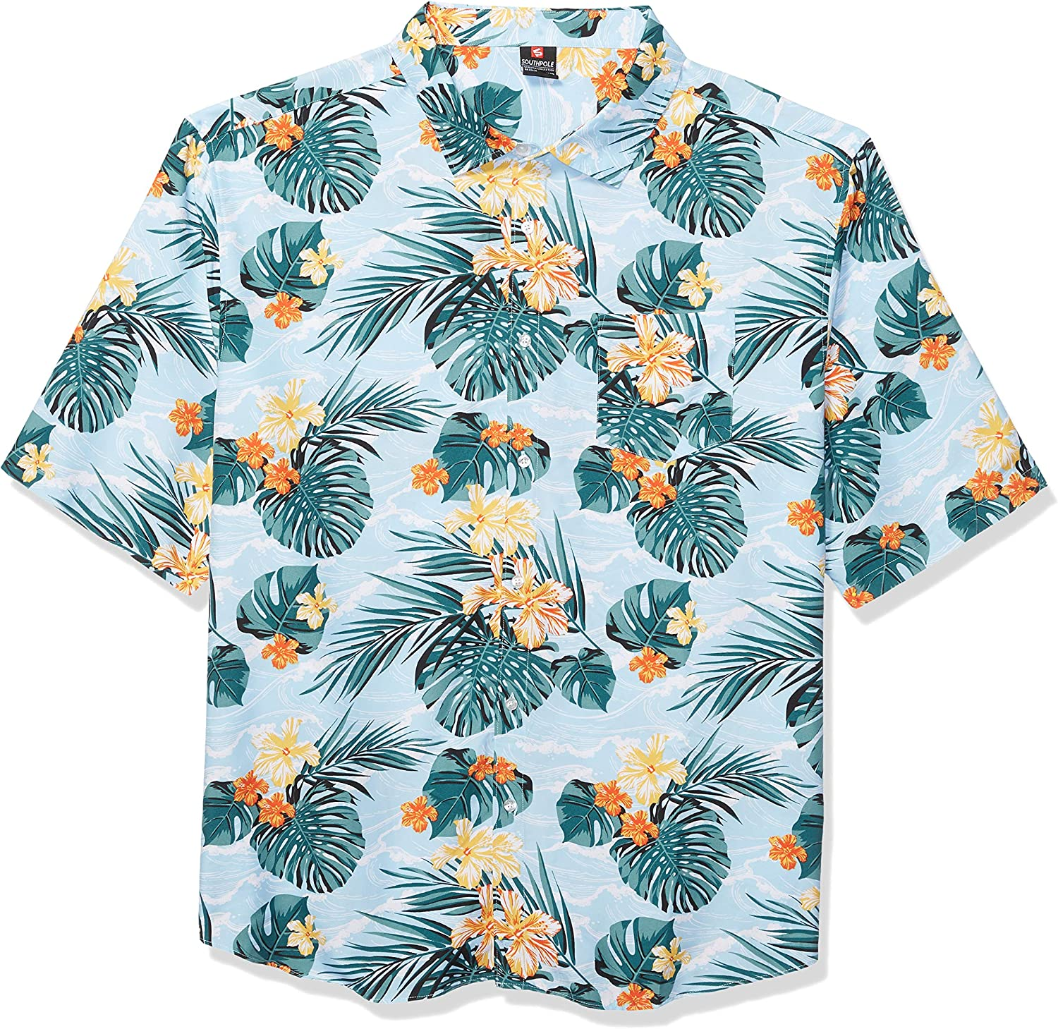 Southpole Men's All Over Print Woven Shirt