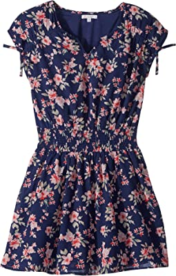 Floral Print Chiffon Dress (Big Kids)