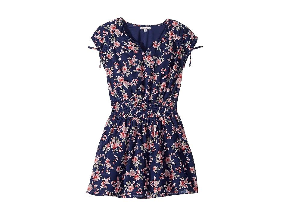 Ella Moss Girl Floral Print Chiffon Dress (Big Kids) (Spring Night) Girl