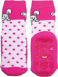 Weri Spezials - Pantofole unisex per bambini e neonati, in spugna, motivo: coniglio, pantofole, colore: Rosa