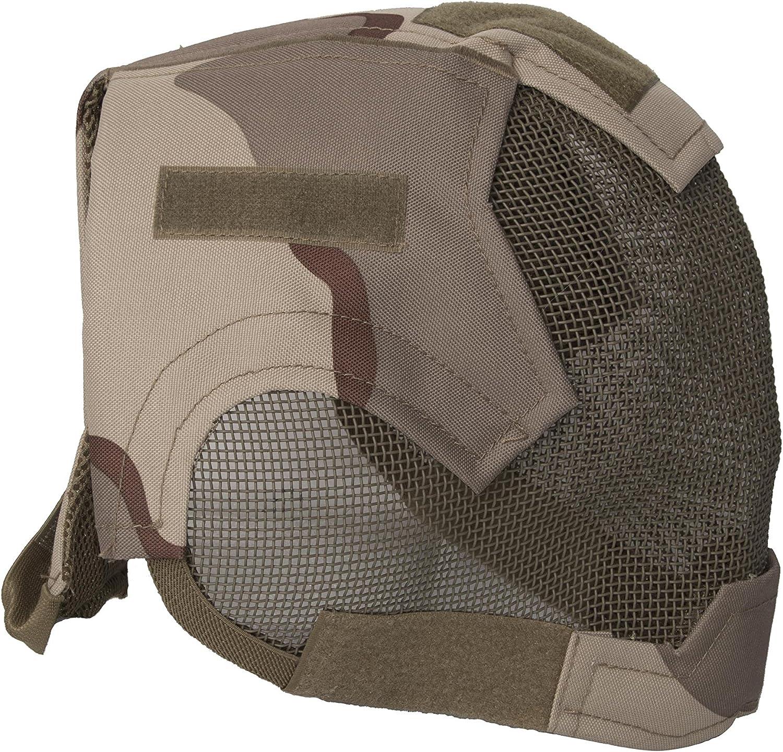 ALEKO PBM219DS Air Soft Predective Mask Full Mesh Wire Full Face, Desert Design