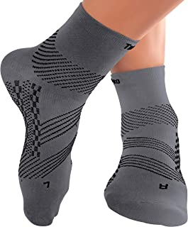 TechWare Pro Ankle Brace Compression Socks - Plantar Fasciitis Socks with Arch Support. Foot Compression Sleeve Relieves A...