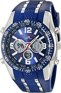 U.S. Polo Assn. Sport Men's US9284 Blue and Silver-Tone...