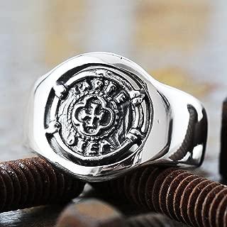 Mens Signet Ring Mens Ring Signet Ring Carpe Diem Ring Silver Signet Ring Men Signet Ring Mens Jewelry Sterling Silver Ring Mens Silver Ring Coin Signet Ring Silver Coin Ring Pinky Ring Circle Ring