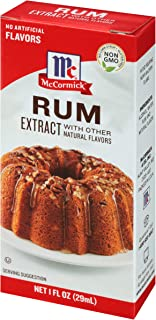 McCormick Rum Extract With Other Natural Flavors, 1 Fl Oz (Pack of 6)