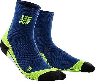Men's Crew Cut Athletic Performance Running Sock-CEP (Deep Ocean/Green) V