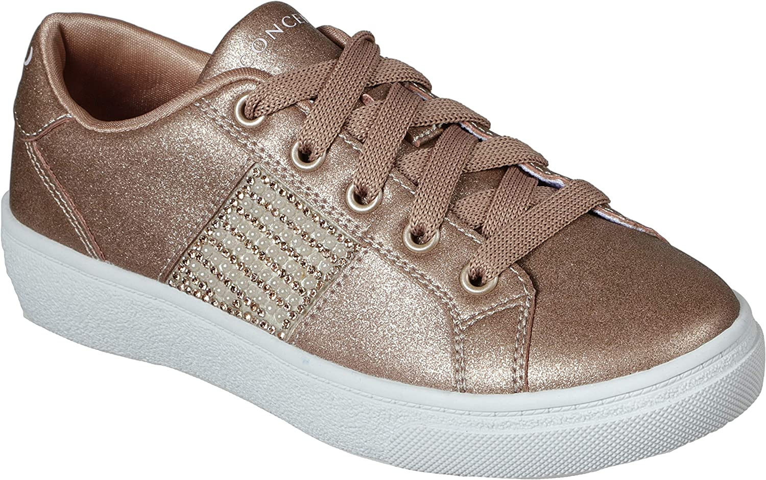Concept 3 Max 70% We OFFer at cheap prices OFF by Skechers Kids' Sneaker Sheen Luster Lace-up