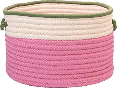 In The Band Storage Bins, 22 by 14-Inch, Pink/Green