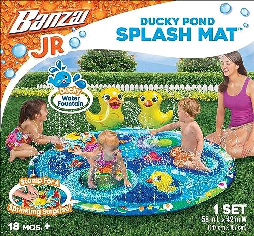 wholesale BANZAI Jr. online sale lowest Ducky Pond Splash Mat, Multi outlet online sale