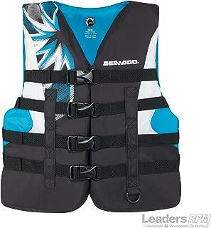 BRP Sea-Doo Women's 2019 Nylon Motion PFD Life Vest Jacket (2X-Large, Aqua)