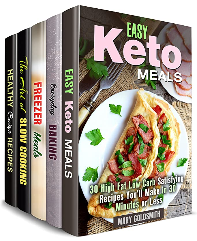 Meals for Busy People Box Set (5 in 1): Over 150 Quick and Easy Ketogenic, Low Carb Slow Cooker Recipes for People on the Go (Cook Fast & Save Time) (English Edition)