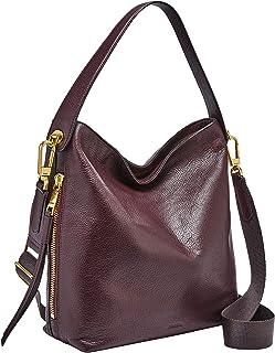 Fossil Maya Leather 30.48 cms Brown Gym Shoulder Bag (ZB7285)