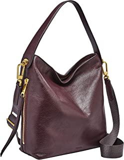 Fossil Maya Leather 30.48 cms Brown Gym Shoulder Bag (ZB7285)
