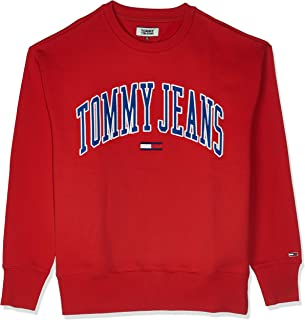 تومي جينز تي شيرت للرجال - لون احمر - مقاس M