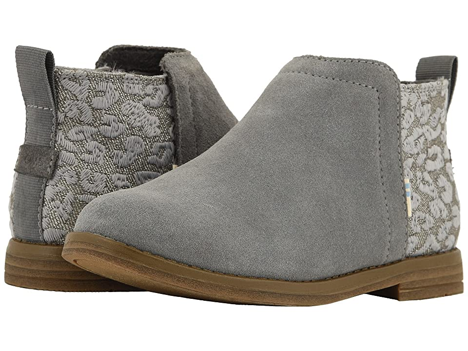 TOMS Kids Deia (Little Kid/Big Kid) (Shade Suede/Cheetah Embroidery) Girl