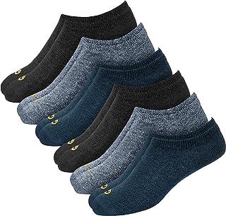 GLINTO Men's Premium Low Cut Socks, Pack of 6 (Free size)