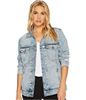 Blank NYC - Embellished Denim Jacket in City Skyline