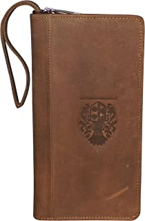 Style98 100% Leather Passport Holder||Credit Card Holder||Chequebook Holder||Boarding Pass Holder||Personal Organiser||Cash Bag||Money Handling Product||Travel Organiser for Men,Boys,Girls&Women