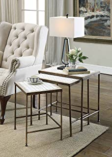 Best travertine top side table Reviews