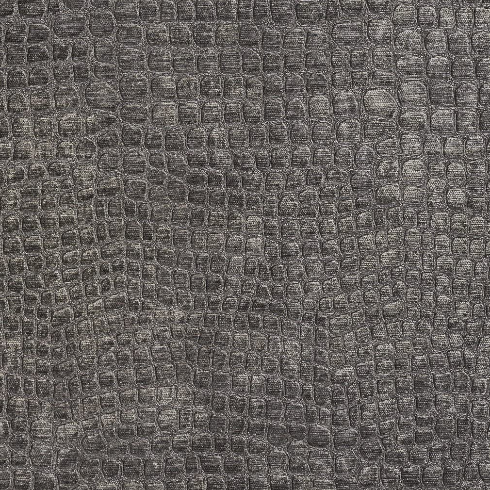 Bombing free shipping A0151L Dark At the price Grey Textured Alligator Upholster Woven Shiny Velvet