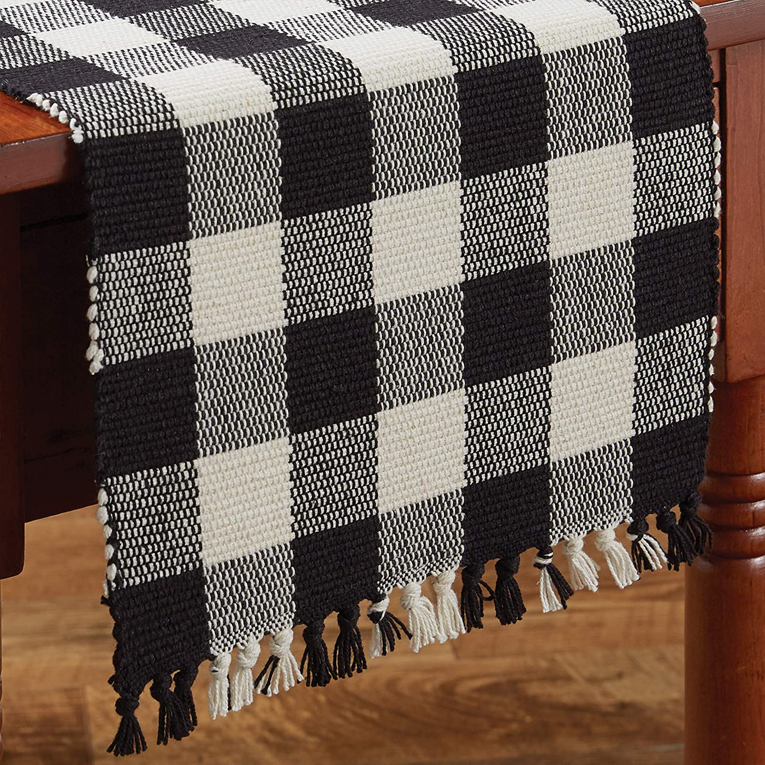 Park Designs Wicklow Check Challenge the lowest price Table Tucson Mall Runner - Cream Black 54''L