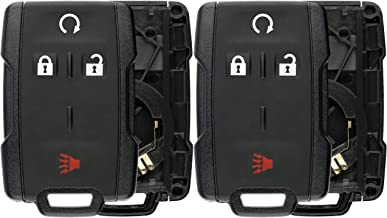 KeylessOption Keyless Entry Remote Control Car Key Fob Case Shell Button Pad Outer Cover for M3N-32337100 (Pack of 2)