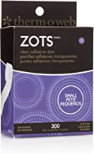 Thermoweb Zots Clear Adhesive Dots, Small, 3/16-Inch-by-1/64-Inch Thick, 300-Pack