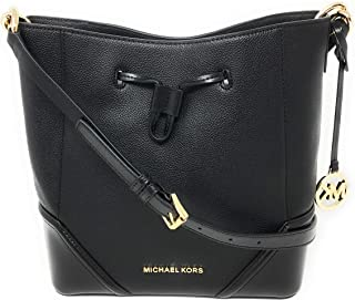 NICOLE LARGE BUCKET SHOULDER BAG CROSSBODY BLACK