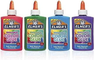 elmer's ' s 可水洗颜色和胶水多色12盎司4只装非常适合 MAKING Slime