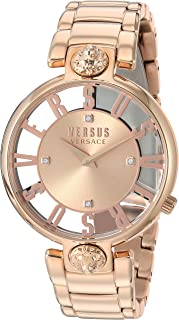 Versus by Versace Women's KRISTENHOF Quartz Watch with Strap, Rose Gold, 106 (Model: VSP490718)
