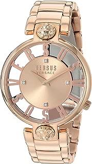 Versus by Versace Women's KRISTENHOF Quartz Watch with Strap, Rose Gold, 106 (Model: VSP490718)