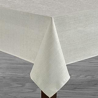 Benson Mills Metallic Blend Tablecloth (White, 60