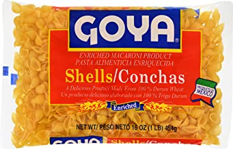 Goya Foods Shells Pasta, 16-Ounce (Pack of 20)