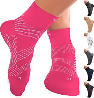 Best TechWare Pro Ankle Compression Socks-Plantar Fasciitis Socks & Foot Support. Achilles Tendonitis Brace & Arch Support for Heel Pain Relief. Injury Recovery & Prevention. Men & Women 1 Pair Review