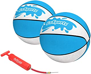 GoSports Water Basketballs 2 Pack - Choose Between Size 3 and Size 6, Great for Swimming Pool Basketball Hoops