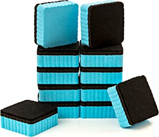 """12-Pack of Premium Magnetic Dry Erase Erasers/Dry Erasers - 2"""" x 2"""" - Perfect Whiteboard Erasers for Classroom, Home and Office"""