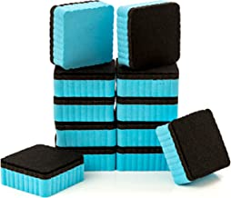 "12-Pack of Premium Magnetic Dry Erase Erasers/Dry Erasers - 2"" x 2"" - Perfect Whiteboard Erasers for Classroom, Home and Office"