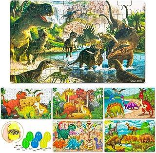 6 Pack Dinosaur Puzzle for Kids, Kids Jigsaw Puzzles, Dinosaur Toys for Boys Girls, Eggs Puzzle for Dinosaur Gift Basket, ...